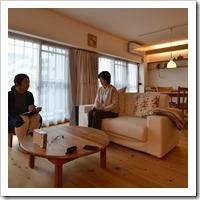 本棚ベッドのあるワンルーム空間の塗り壁の住まい(茨木)