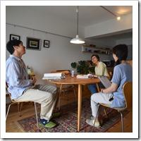 山名栗の大黒柱とタモの間仕切棚のある断熱リフォーム(兵庫県宝塚市)
