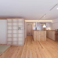 『本棚ボックスと土間スペースのある大空間リノベーション』神奈川県横浜市